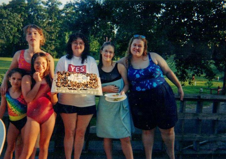 I think this was either 1999 or 2000...I am on the far right putting bunny ears up behind Rebekah lol