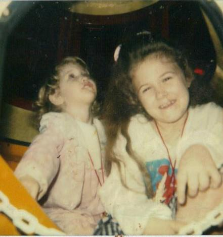 This was at Chuckie Cheese and I think I was about 8 or 9 and Beckah was 3 or 4 :)